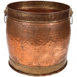 Vintage Hammered Copper Pot