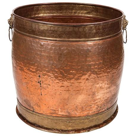 Vintage Hammered Copper Pot