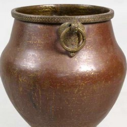 Large Antique South Indian Hammered Copper Water Storage Pot