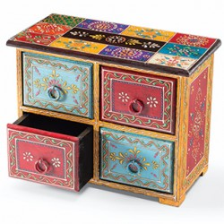 Rajasthani Ethnic Hand Painted Decorative Wooden Drawers