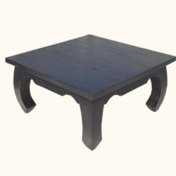 Midnight Black Indian Japan Rosewood Square Coffee Table