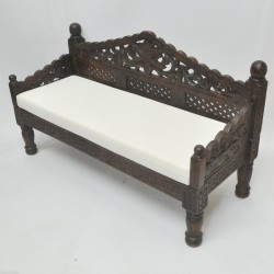 Hand Carved Daybed Small