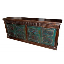 Antique Doors Vintage Sideboard Buffet Hand Carved Chest Console