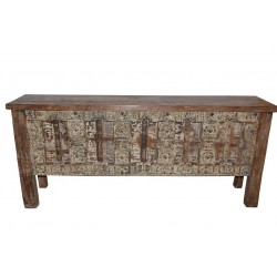 Antique Doors Console Sofa Table Spanish Moroccan Mediterranean Boho Shabby