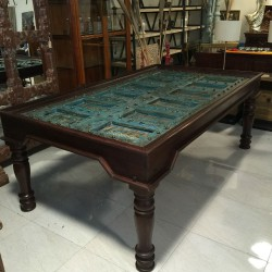 Original Antique Door Dining Table