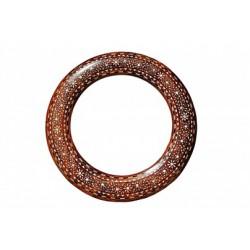 Round Bone Inlay Indian Mirror