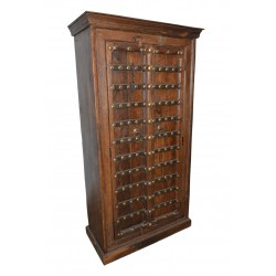 Antique Haveli Old Door Armoire Hand Carved Cabinet