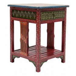 Hand Painted Rajasthani End Table