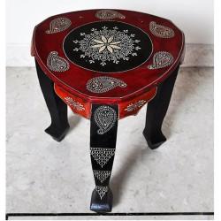 Rajasthani Handmade Decorative Wooden Stool & End Table